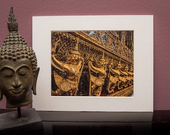 Matted Art Print-Thailand-Temple-Buddha-Buddhist-Religion-Home Office Decor- White Matt-Travel-Asia-Gift-Photo-Art-Grand Palace-Bangkok