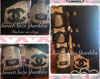 Tall Bailey Bow Ugg boots, with tons of BLING!