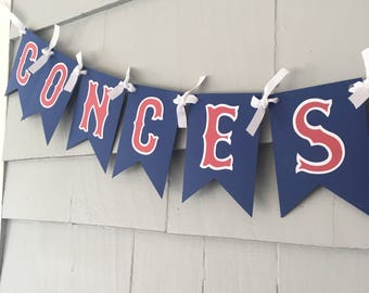CONCESSIONS Baseball Banner, Food Table Banner, Baseball Birthday Banner, baseball, Birthday Banner, childs birthday decor, birthday party