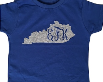 Kentucky monogram glitter tshirt