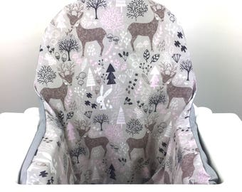 Deer Woodland IKEA Antilop High Chair Cushion Cover   For Inflatable Cushion    Highchair Cushion /