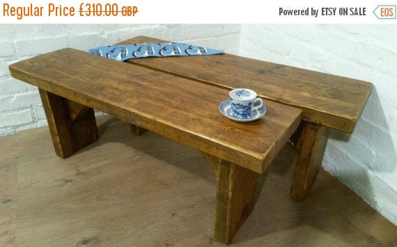 Pair Of X Wide Vintage 5ft Rustic Reclaimed Pine Dining
