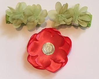 Flower Hair Clip Bundle
