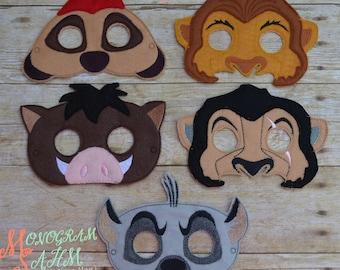 King Lion Mask Set adult/child size options
