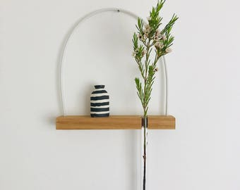 wall vase, hanging shelf, hanging vase, shelf, test tube, wall vase, reclaimed wood, hanging plant, minimalist decor, minimal, wall shelf