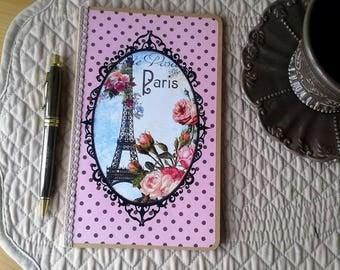 vintage paris eiffel tower notebook