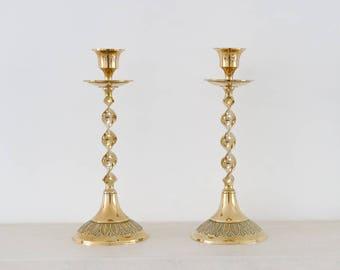 Vintage brass candlesticks - Brass candleholders - Barley twist candlesticks - Home Decor - Tableware