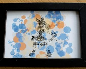 """Lucario Mandala Artwork 4x6"""""""