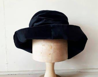 Black Velvet Slouch Hat