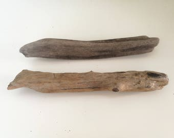 "Two Driftwood Sticks For Wall Hanging Crafts & Decorations - 11.5"" Driftwood Dowel For Woven Wall Hanging Macrame"