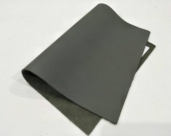 "Leather Scrap, Genuine Leather, Leather Pieces, River Rock Color, Size 8.25"" by 11.5""  Leather Scrap for DIY Projects."