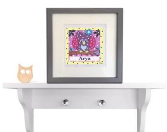 Personalised owl print