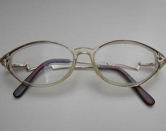 Cool glasses, Vintage glasses large glasses, silver brown frame,clear lens,small glasses, vintage glasses, cool glasses 210