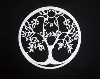 Bright white wall jewelry tree