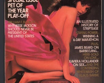Mature Vintage Penthouse Magazine Mens Girlie Pinup : July 1984 VG+ White Pages Intact Centerfold