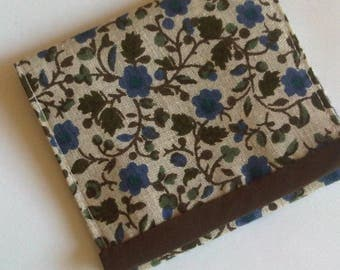 Blue and Brown floral wallet