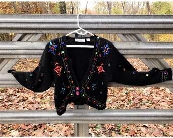 Vintage 80's Embellished Maggie Lawrence Sweater