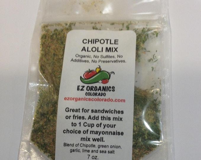 Organic dry mix of Chipotle Aloli Sauce mix