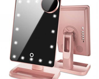 Touch Vanity Pro Mirror with Bluetooth - Rose Gold