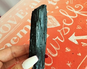 Black Tourmaline Protection Stone infused w/ Reiki
