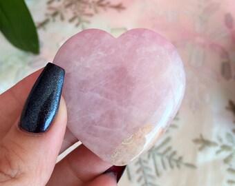 Pink Rose Quartz Heart