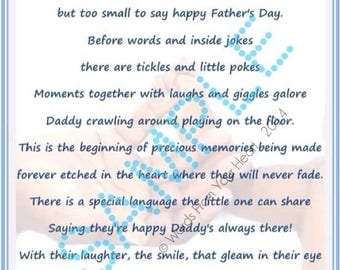 Father's Day Poem, Poetry, Daddy, Father's Day Gift, Personalized Poetry