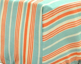 Scout Mango and White Crib Baby Bedding   Crib Sheet