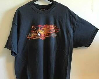 Harley Davidson tee XXL/90s/black/crew/print/t-shirt
