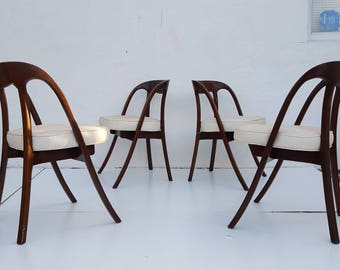 Edward  Wormley Style  Dining Chairs Set Of -4