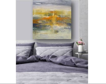Large Abstract Art Original Painting Original Canvas Art Abstract Wall Art Sunset Painting