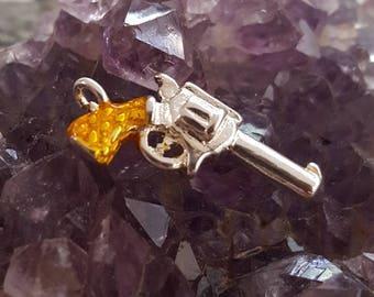 Revolver Gun Charm (Addition to Pendants) Thoughtfullkeepsakes Shop