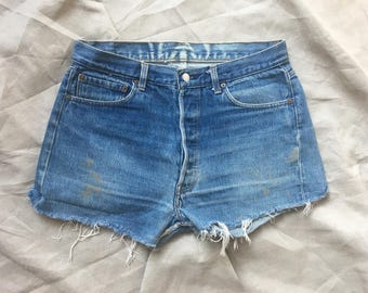 Levis Denim Cutoff 501 Shorts