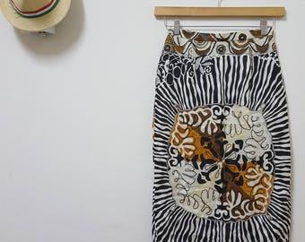 FREE SHIPPING, Vintage Louis Feraud skirt, Arty skirts, Japan skirt, summer skirt, modern  skirt