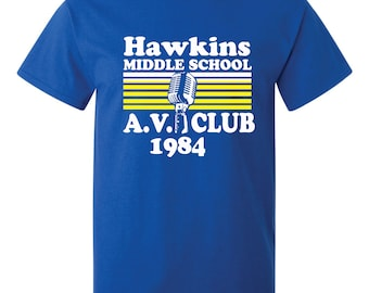 Hawkins Middle School AV Club T-Shirt
