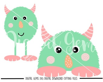 Monster, Halloween svg / dxf / eps / png files. Digital download. Compatible with Cricut Design Space and Silhouette Studio.