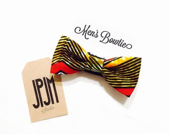 Bow tie for Men, African bow tie Suit accessories Stripe bow Unique bowtie Dad and son bow tie
