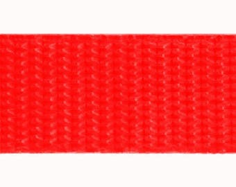 30mm red polypropylene webbing