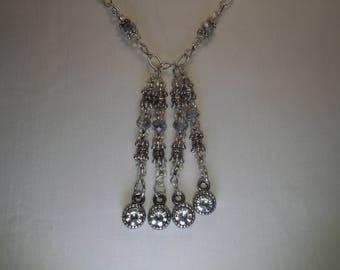 Silver tassle necklace