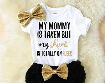baby girl clothes - baby girl bodysuit - aunt and niece shirt - my aunt is my stylist - new aunt gift - baby girl outfit