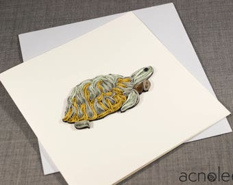 Quilled Turtle Tortoise Animal Card