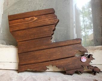 Louisiana Louisiana Art State Art Louisiana Decor Louisiana Sign Wooden Louisiana