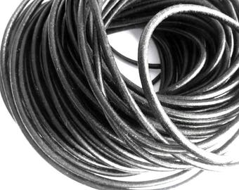 leather cord 5 mm black PR01350 100 m