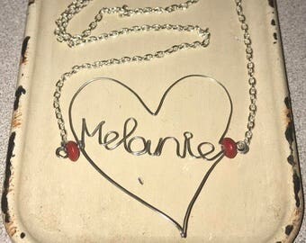 Heart Name necklaces
