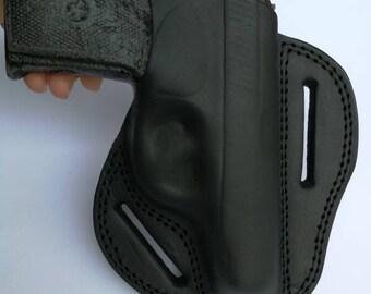 Makarov thumb break belt holster. Belt Slide Holster. Pancake Belt Slide. Right Hand Holster. Black Leather