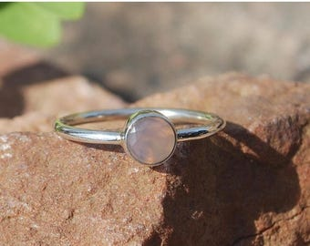 On Sale Natural Rose Quartz Ring- Stone Ring - Gemstone Ring - Gemstone Jewelry - Handmade Jewelry