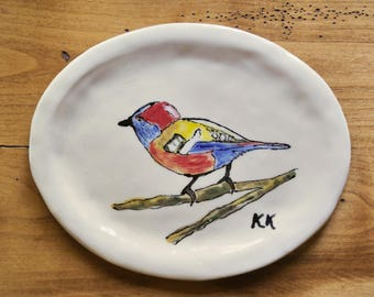 Bird on a Branch Plate or Platter