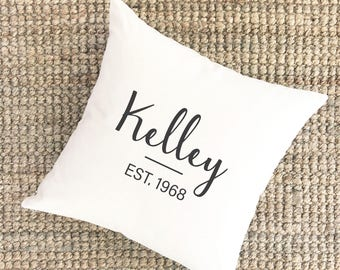 Personalized Anniversary Pillow | 40th Anniversary Gift for Parents | 2nd Anniversary Gift | Cotton Anniversary Gift | 50th Anniversary Gift