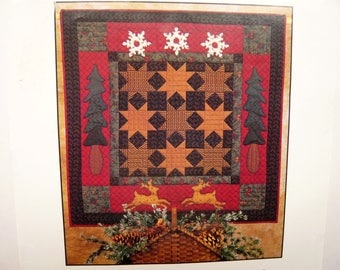 Christmas Night quilt pattern - Thimbleberries pattern - Wall Quilt