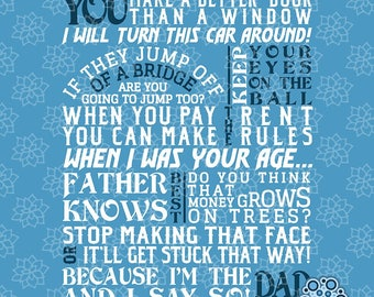 SVG & DXF design - Dad-isms, Funny Dad sayings cut file for die cut machines (Cricut \ Silhouette)