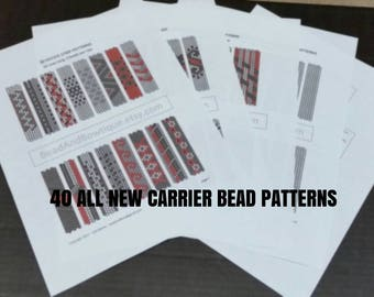 40 Carrier Bead Patterns  -ALL NEW-  Done in peyote stitch - Instant Digital Download